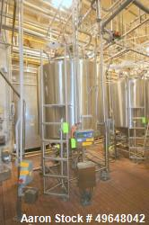 Used-DCI 1,000 Gal. Stainless Steel Single Wall Vertical Tank, Serial # JS961-B, Dome Top/Cone Bottom, with Stainless Steel ...