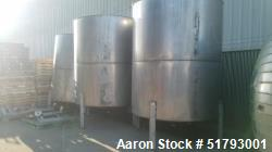 Used-Fabricated Products Company Approx. 2400 Gallon Stainless Steel Vertical St