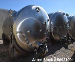 Used- Inox-Tech Pressure Tank, Approximate 3,000 Gallon