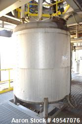"Used- Mueller Pressure Tank, 1200 Gallon, 304 Stainless Steel, Vertical. 72"" Diameter x 72"" straight side, dished top and bo..."