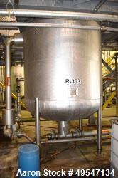 "Used- Mueller Pressure Tank, 2100 Gallon, 304 Stainless Steel, Vertical. 84"" Diameter x 72"" straight side, 2:1 elliptical to..."