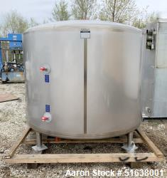 Mueller Stainless Steel Jacketed 1,500 Gallon Tank