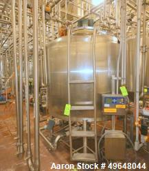 Used-St. Regis Aprox. 1,000 Gal. Single Wall Tank, Serial # 11407, Dome Top/Cone Bottom, Mounted on Stainless Steel Legs & L...