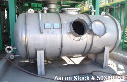 Used- Steel Structures Distillation Reboiler Pressure Tank, Approximate 1700 Gallon, 304 Stainless Steel, Horizontal. Approx...