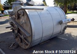 Used- Tank, Approximate 1000 Gallon, Stainless Steel, Vertical.