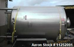 Used Walker Stainless Equipment 2,500 Gallon Tank