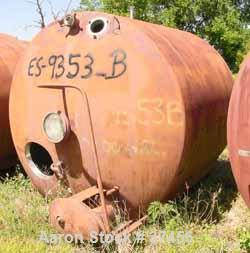 """USED:Pfaudler tank, 2000 gallon, stainless steel, horizontal. Approx88"""" diameter x 78"""" straight side, dished ends. Insulated..."""