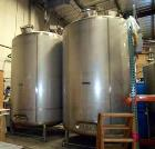 Used- 3,000 Gallon, Stainless Steel, Jacketed Mueller Tanks.