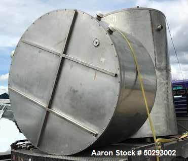 Used- Tank, Approximately 1,100 Gallon, Stainless Steel