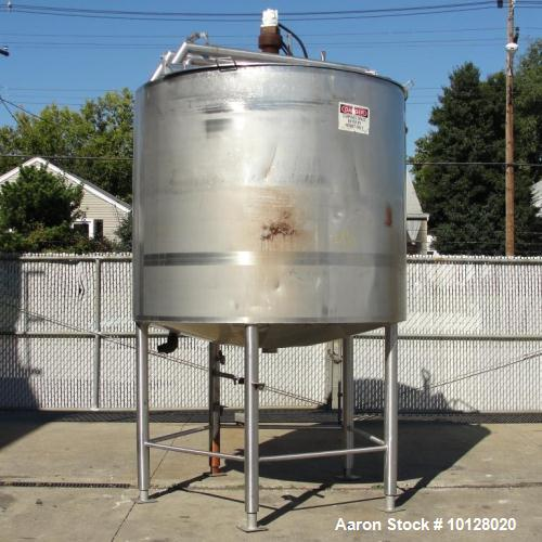 Used- 1,000 Gallon Walker Stainless Steel Mixing Tank