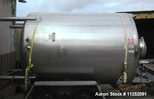 Used- Walker Stainless Equipment 2,500 Gallon Tank