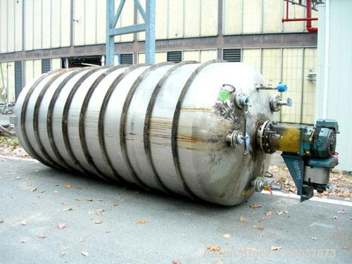 "Used: Walker Stainless pressure tank, 3000 gallon, stainless steel, vertical. Approximately 72"" diameter x 166"" straight sid..."