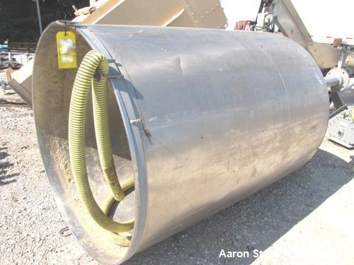 "Used-Tank, Approximately 700 Gallons, Stainless Steel.  54"" Diameter x 72"" straight side.  Open top (no cover), dish bottom...."