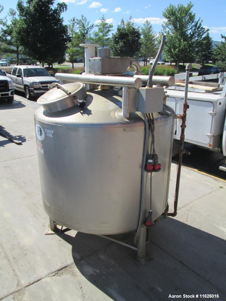 Used- 500 Gallon Stainless Steel Jacketed A and B Processor.
