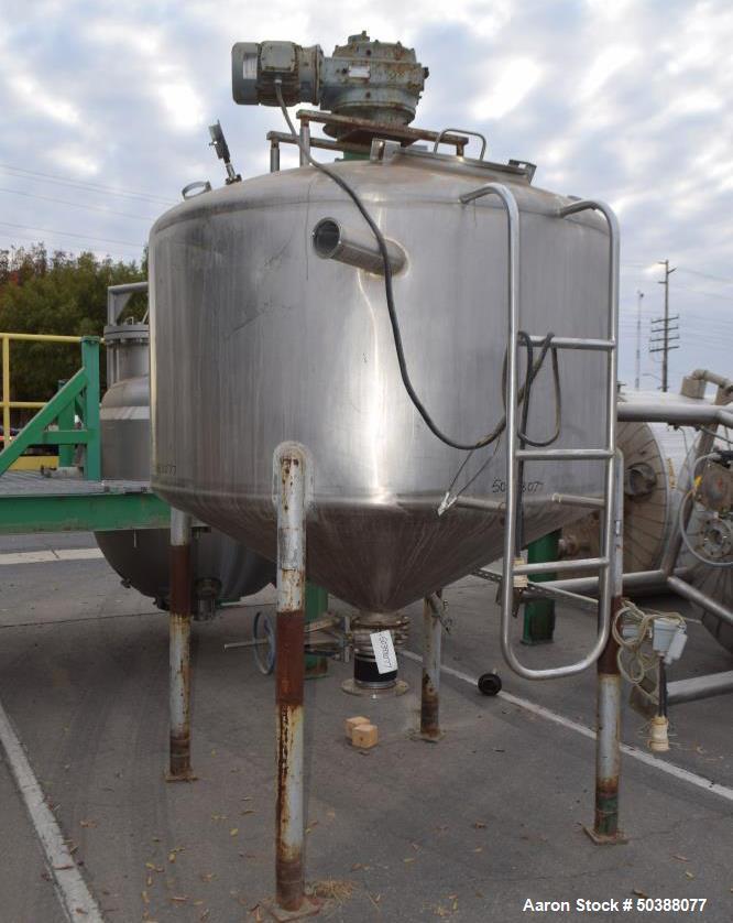Used- Cherry-Burrell 750 Gallon Super Mixer Tank