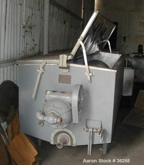 "Used- Delaval Coil Vat Batch Processor, 660 Gallon, 4300 Pound Capacity. 40"" Wide x 106"" long x approximately 36"" deep. Coil..."