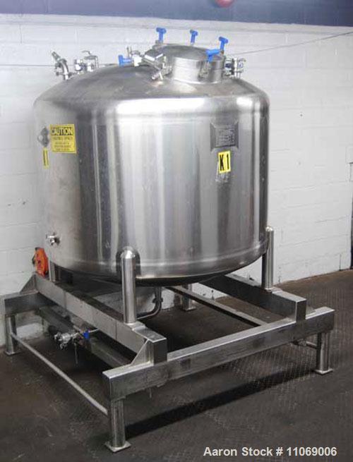 "Used-Feldmeier 2,500 Liter Pressure Tank.  19"" Diameter manhole and 9 additional 2-1/2"" top inlet ports, 2-1/2"" diameter dis..."
