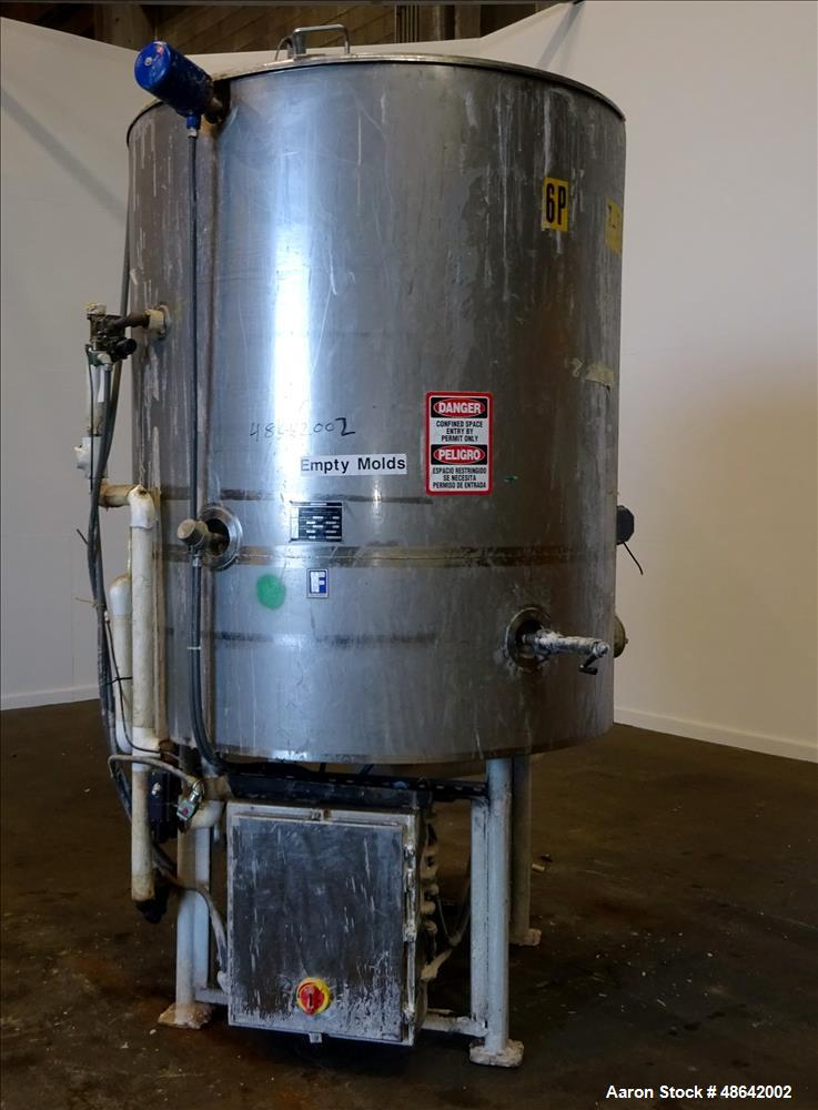 Used- Feldmeier Tank, Approximate 650 Gallons, 304 Stainless Steel, Ver