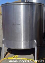 Used - Tank, Approximately 800 Gallon, Stainless Steel.