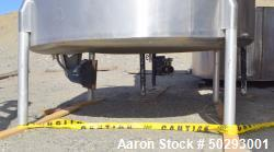 Used- Tank, Approximately 800 Gallon, Stainless Steel.