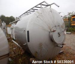 "Tank, Approximately 845 Gallon, Stainless Steel, Vertical. Approximately 72"" diameter x 48"" straigh..."