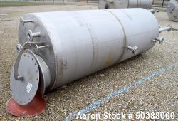 "Used- Tank, Approximate 950 Gallon, Stainless Steel, Vertical. Approximate 48"" diameter x 120"" straight side, dished top, co..."