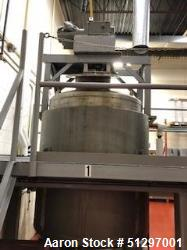 Used-Approximately 900 Gallon, Vertical, Stainless Steel Jacketed Tank with Ligh