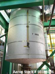 "Used- Alaskan Copper Works Pressure Tank, Approximate 500 Gallon, 316L Stainless Steel, Vertical. Approximate 42"" diameter x..."