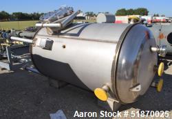 "Unused- Apache Stainless Pressure Tank, 695 Gallon, 304L Stainless Steel, Vertical. 48"" Diameter x 72"" straight side, 2:1 el..."