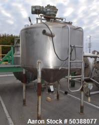 Used - Cherry-Burrell Super Mixer Tank, 750 Gallon