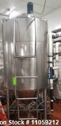 Used- Grace/Rietz 700 Gallon Jacketed Processing Tank/Kettle with Sweep Mixer