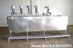 Used - 6 Compartment Rectangular Tank, Approximate 700 Total Gallons
