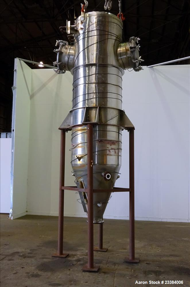 Used- Mid-States Contracting Pressure Tank/Filter, 304 Stainless Steel.