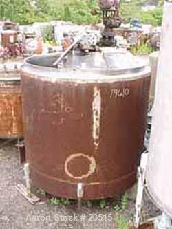 """USED:Metal Glass Products (Sani-Tank) mix tank, 835 gallon. 304stainless steel, vertical. 64"""" diameter x 60"""" straight side. ..."""