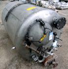 Used- Tank, 500 Gallon, 304 Stainless Steel, Vertical. Approximate 48