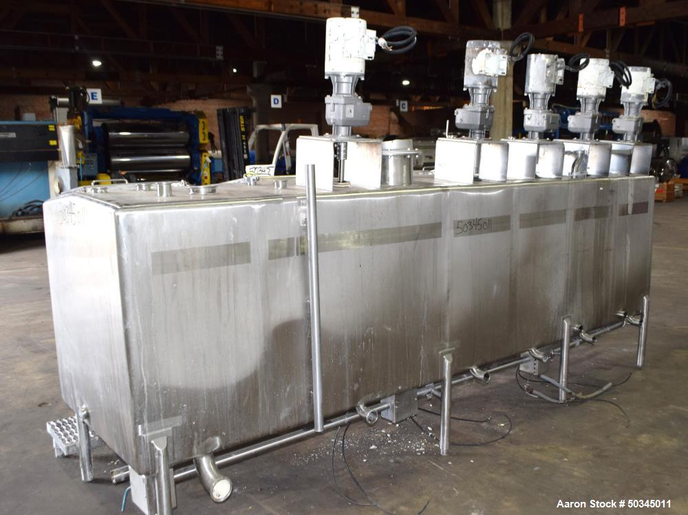 Used- 6 Compartment Rectangular Tank, Approximate 700 Total Gallons