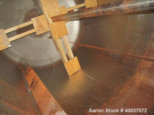 """Used- Walker Stainless Tank, 900 Gallon, Stainless Steel, vertical. Approximately 60"""" diameter x 72"""" straight side, dished t..."""