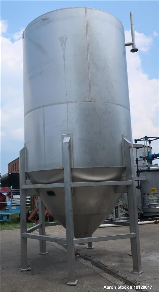 Used 5,000 gallon Andritz vertical 304L Stainless Steel, Conical Bottom Tank.