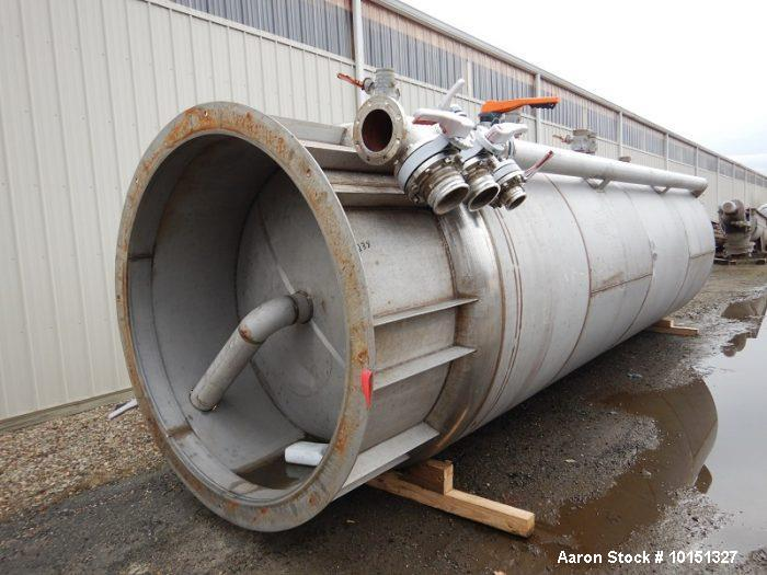Unused- Approximately 6,000 Gallon Stainless Steel Vertical Tank