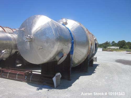 Unused - Praj Industries 14000 Gallon Vertical 316 Stainless Steel Pressure Vess