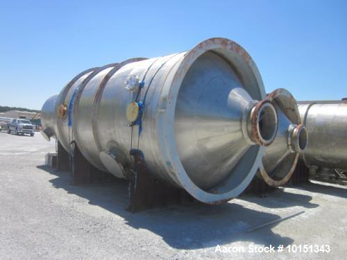 Unused- Praj Industries Vertical 316 Stainless Steel Pressure Vessel