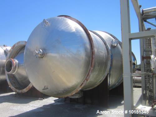 Unused- Praj Industries 15852 Gallon Vertical 316 Stainless Steel Pressure Vess