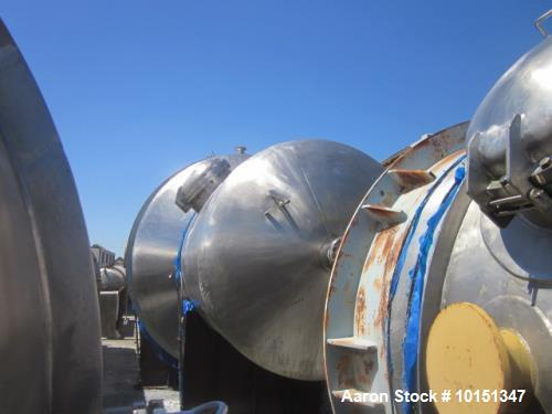 Unused- Praj Industries 14000 Gallon Vertical 316 Stainless Steel Pressure Vess
