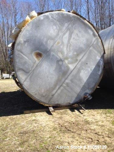 Used- Tate Metal Works 15,200 Gallon Stainless Steel Storage Tank. Built by Tate Metal Works. Approximately 12' diameter x 1...