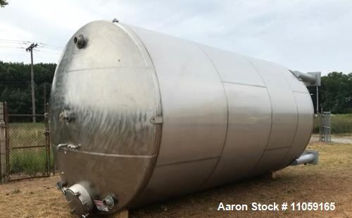 Used- 11,500 Gallon Stainless Steel Mixing Tank.