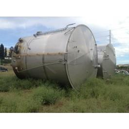 Used-  13,455 Gallon Capacity, Stainless Steel Construction Tank. Measures 12-1/2' diameter x 15' straight side. Complete wi...