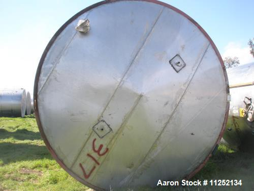 Used-15,000 Gallon Vertical Stainless Steel Tank