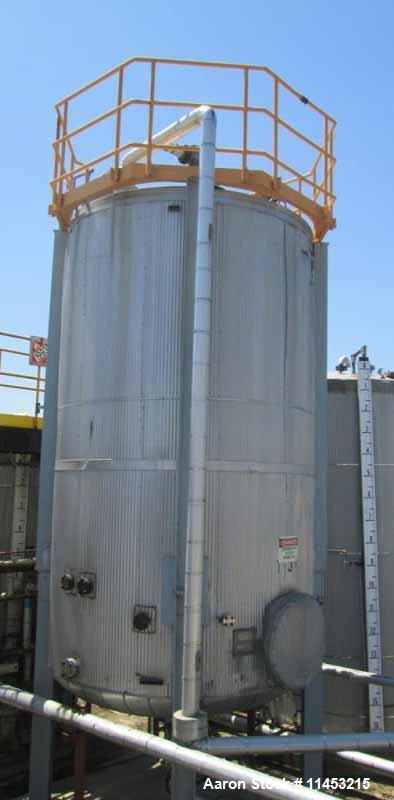 Used- 7,500 Gallon Stainless Steel Storage Tank
