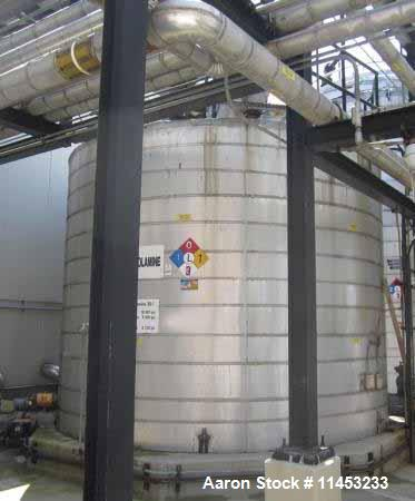Used- 10,000 Gallon Stainless Steel Storage Tank