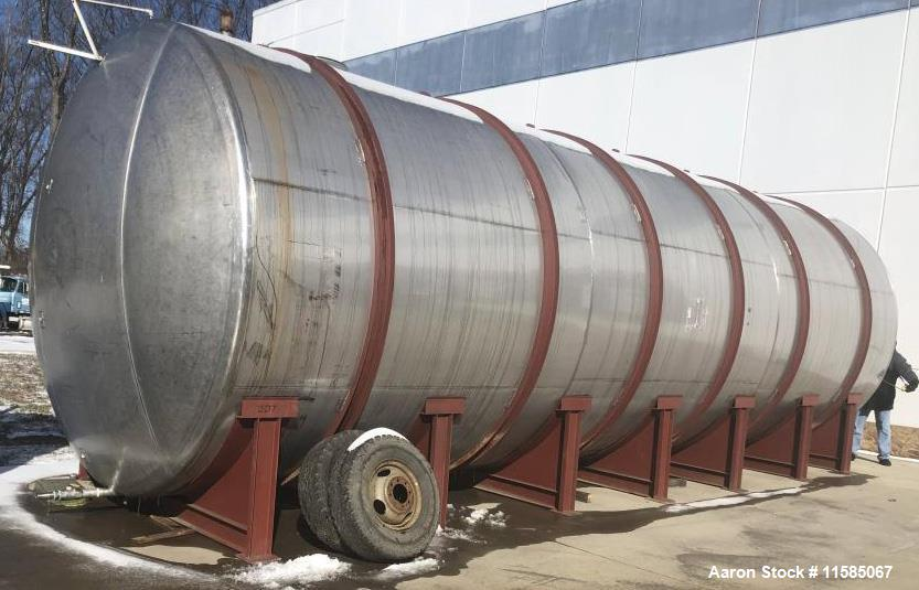 Used- Horizontal T304 Stainless Steel Tank
